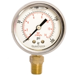 "DuraChoice PB158L-200 Oil Filled Pressure Gauge, 1-1/2"" Dial"
