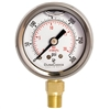 "DuraChoice PB158L-K01 Oil Filled Pressure Gauge, 1-1/2"" Dial"