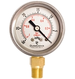 "DuraChoice PB158L-V00 Oil Filled Vacuum Gauge, 1-1/2"" Dial"