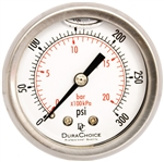"DuraChoice PB204B-300 Oil Filled Pressure Gauge, 2"" Dial"