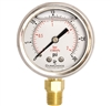 "DuraChoice PB204L-030 Oil Filled Pressure Gauge, 2"" Dial"