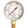 "DuraChoice PB204L-100 Oil Filled Pressure Gauge, 2"" Dial"