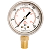 "DuraChoice PB204L-300 Oil Filled Pressure Gauge, 2"" Dial"