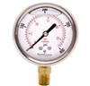 "DuraChoice PB204L-400 Oil Filled Pressure Gauge, 2"" Dial"