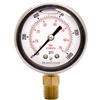 "DuraChoice PB204L-K01 Oil Filled Pressure Gauge, 2"" Dial"