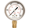 "DuraChoice PB204L-K015 Oil Filled Pressure Gauge, 2"" Dial"