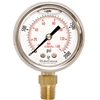 "DuraChoice PB204L-K02 Oil Filled Pressure Gauge, 2"" Dial"