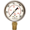 "DuraChoice PB204L-K06 Oil Filled Pressure Gauge, 2"" Dial"