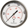 "DuraChoice PB404B-K15 Oil Filled Pressure Gauge, 4"" Dial"