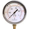"DuraChoice PB404L-015 Oil Filled Pressure Gauge, 4"" Dial"