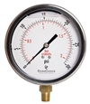 "DuraChoice PB404L-030 Oil Filled Pressure Gauge, 4"" Dial"