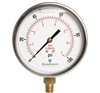 "DuraChoice PB404L-100 Oil Filled Pressure Gauge, 4"" Dial"