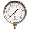 "DuraChoice PB404L-500 Oil Filled Pressure Gauge, 4"" Dial"