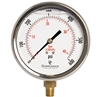 "DuraChoice PB404L-600 Oil Filled Pressure Gauge, 4"" Dial"