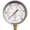 "DuraChoice PB404L-K015 Oil Filled Pressure Gauge, 4"" Dial"