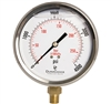 "DuraChoice PB404L-K04 Oil Filled Pressure Gauge, 4"" Dial"
