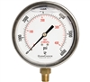 "DuraChoice PB404L-K06 Oil Filled Pressure Gauge, 4"" Dial"