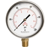 "DuraChoice PB405L-100 Oil Filled Pressure Gauge, 4"" Dial"