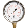 "DuraChoice PB405L-500 Oil Filled Pressure Gauge, 4"" Dial"