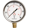 "DuraChoice PB405L-600 Oil Filled Pressure Gauge, 4"" Dial"
