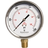 "DuraChoice PB405L-K015 Oil Filled Pressure Gauge, 4"" Dial"
