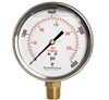 "DuraChoice PB405L-K04 Oil Filled Pressure Gauge, 4"" Dial"