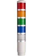 Menics PME-502-RYGBC 5 Tier LED Tower Light, Red/Yellow/Green/Blue/Clear
