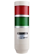 Menics 2 Stack LED Tower Light, Red Green, 220V