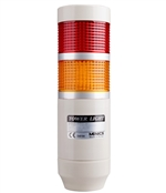 Menics 2 Stack LED Tower Light, Red Yellow, 220V
