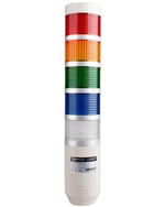 Menics PRE-501-RYGBC 5 Stack LED Tower Light, Red Yellow Green Blue Clear