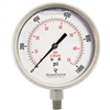 "DuraChoice PS404L-K01 Oil Filled Pressure Gauge, 4"" Dial"