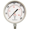 "DuraChoice PS404L-K03 Oil Filled Pressure Gauge, 4"" Dial"