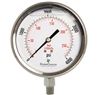 "DuraChoice PS404L-K04 Oil Filled Pressure Gauge, 4"" Dial"