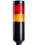 Menics PTE-A-2FF-RY-B 2 Tier LED Tower Light, Red/Yellow