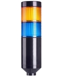 Menics PTE-A-2FF-YB-B 2 Tier LED Tower Light, Yellow/Blue