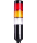 Menics PTE-A-3FF-RYC-B 3 Tier LED Tower Light, Red/Yellow/Clear