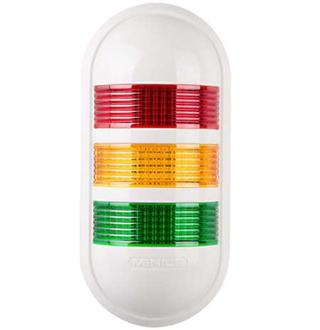 Menics PWEF-3FF-RYG 3 Tier LED Tower Light, Red/Yellow/Green