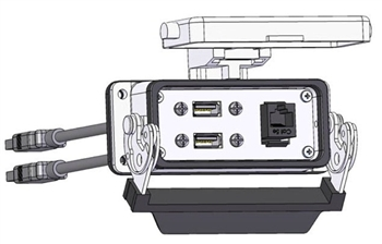 Mencom RJ45-2USB-10-16LS PIC with RJ45 and USB