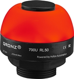 Qronz 50mm LED Beacon Light w/Alarm, 12V, Lead Wire, Mixed Color