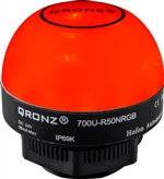 Qronz 50mm LED Beacon Light, 12V, Lead Wire, Mixed Color