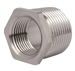 "Nickel Plated Brass 3/4"" NPT to 1/2"" NPT Reducer"