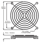 Wire Form Fan Guard 120mm