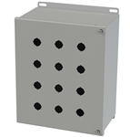 Saginaw Hinged Push Button Box, 12 Position, 22.5mm