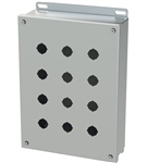 Saginaw SCE-12PBSSI Stainless Steel Push Button Box, 12 Position, 22.5mm