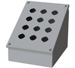 Saginaw Sloped Front Push Button Box, 12 Position, 3x4, 30.5mm