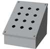 Saginaw Sloped Front Push Button Box, 12 Position, 3x3, 22.5mm