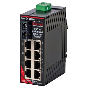 Sixnet 9 Port Industrial Ethernet Switch - SL-9ES-3SC