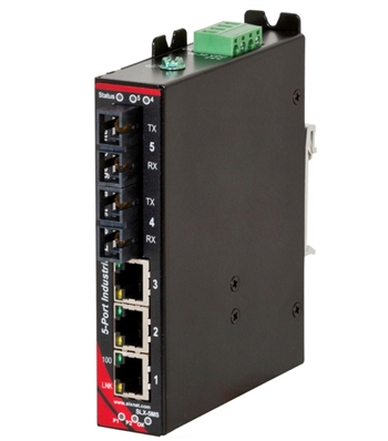 Sixnet 5 Port Industrial Ethernet Switch - SLX-5MS-4SC
