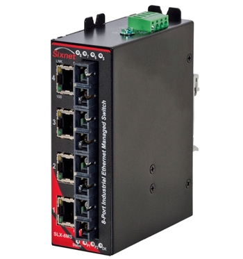 Sixnet 8 Port Industrial Ethernet Switch - SLX-8MS-9SCL