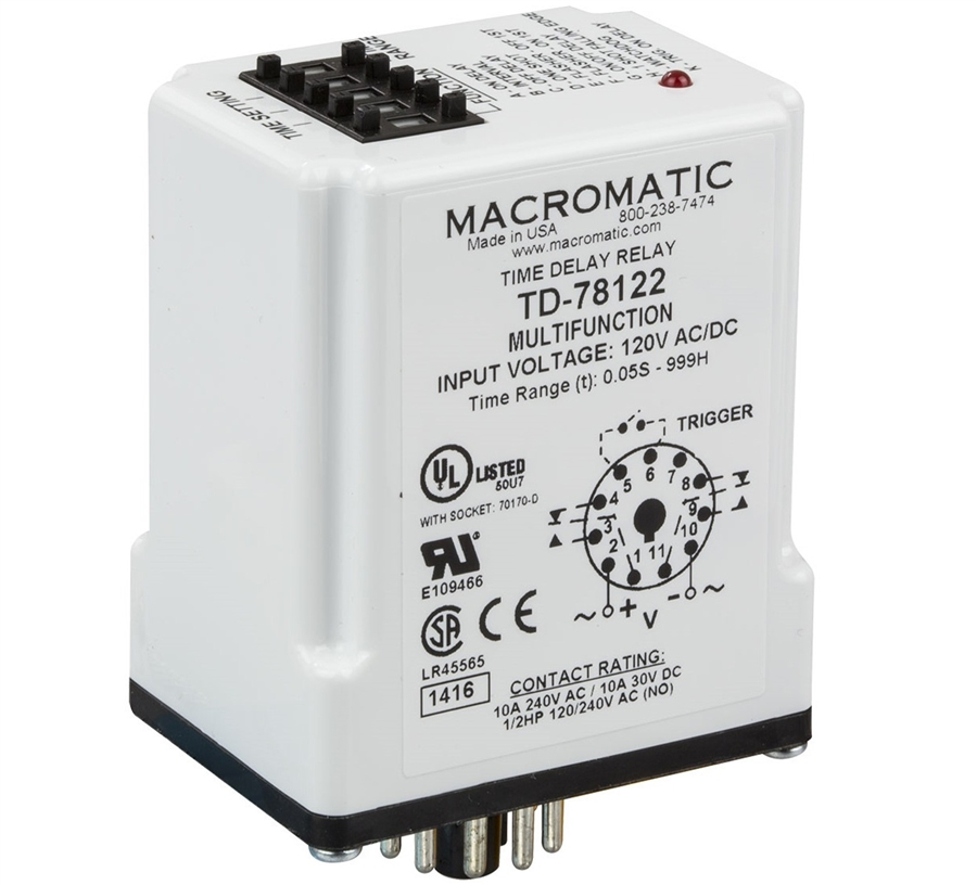 Macromatic TD-78122 Programmable Time Delay Relay on delay timer relay, macromatic alternating relay, abb alternating relay, macromatic phase monitor relay,